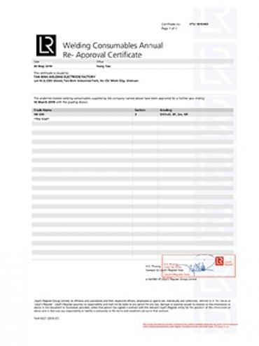 LLOYD'S Certificate