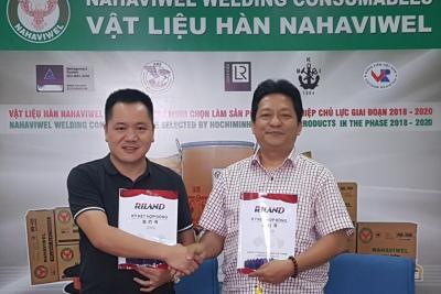 Lễ ký kết hợp đồng phân phối độc quyền máy hàn RILON tại VN