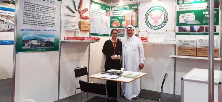 Nahaviwel exhibited in the Saudi Arabia Welding Fair