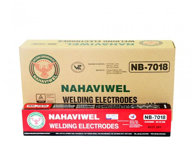 Que hàn điện Nahaviwel NB-7018 loại 2.6 mm