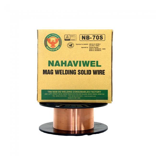 Dây hàn MAG Nahaviwel NB-70S loại 0.8mm
