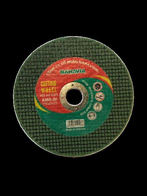 Đá cắt Inox NAHAVIA 150X2X22- A36R-BF